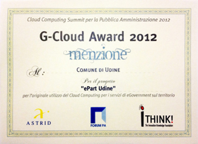 G-Cloud Award 2012